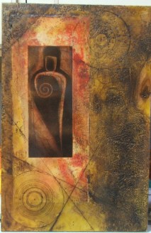 Dark Man - Encaustic Painting on Panel