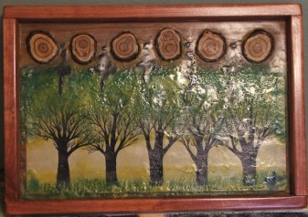 Spring - Encaustic panel.