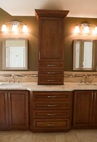 Master Bathroom Remodel: Colonial Gold Granite Countertop
