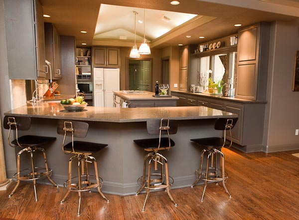 Nova Blue Limestone Kitchen in Austin Texas