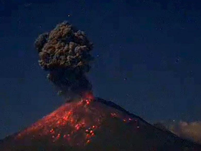 VIDEO) Se registra explosión en el Popocatépetl - TolucalaBellaCd