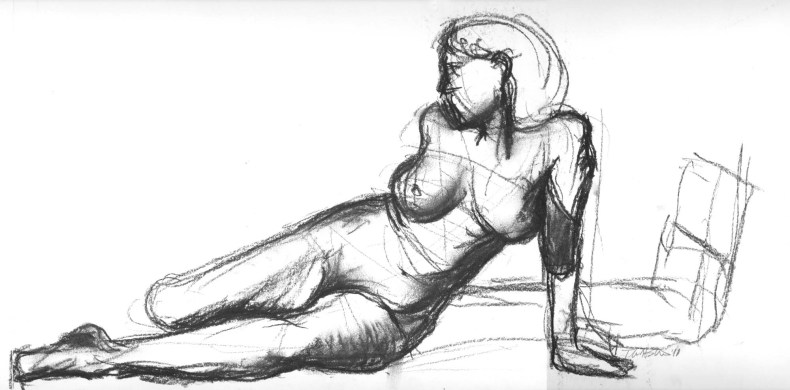 pleasing charcoal drawing