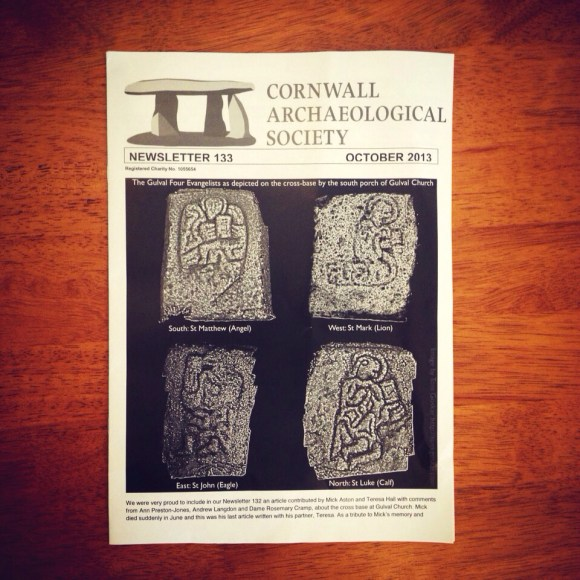Cornwall Archaeological Society newsletter issue 133