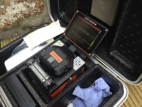 The BT Openreach fusion splicer