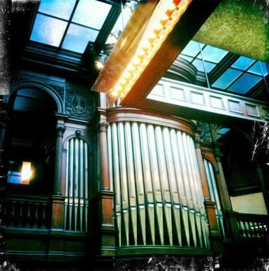 The organ inside the James J. Hill House