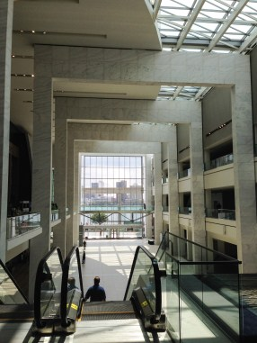 Inside the Cobo Center.