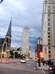 Looking toward downtown on Woodward Avenue