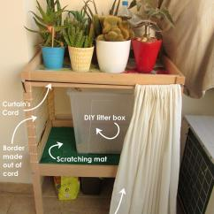 Diy Wood Chair Mat Plastic Folding Lounge Cat Litter Box And Storage Furniture Toma Creations