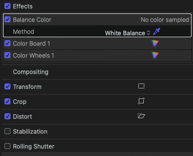 Balance Color FCPX
