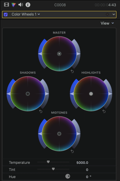 Color Wheels FCPX