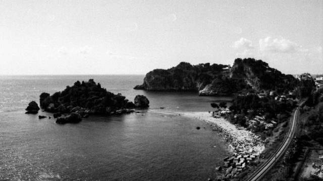Taormina, Sicily in black and white