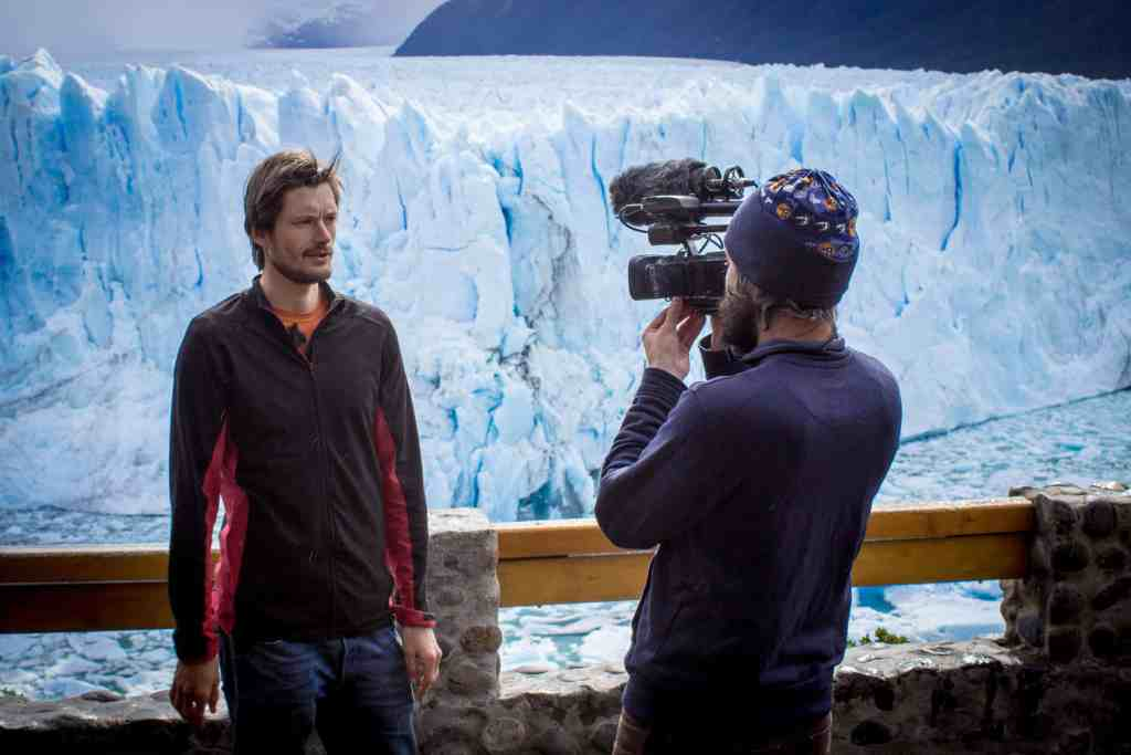 On shoot at the Perito Moreno Glacier in Patagonia, December 2014