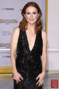 Julianne Moore in Tom Ford at The Hunger Games ...