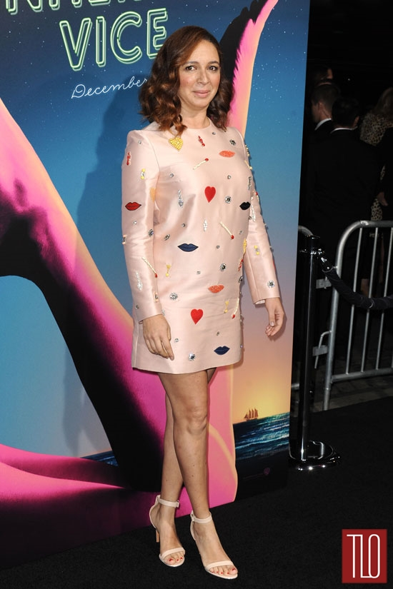 Girl Thats Not Your Dress Maya Rudolph in Stella McCartney at the Inherent Vice LA Premiere
