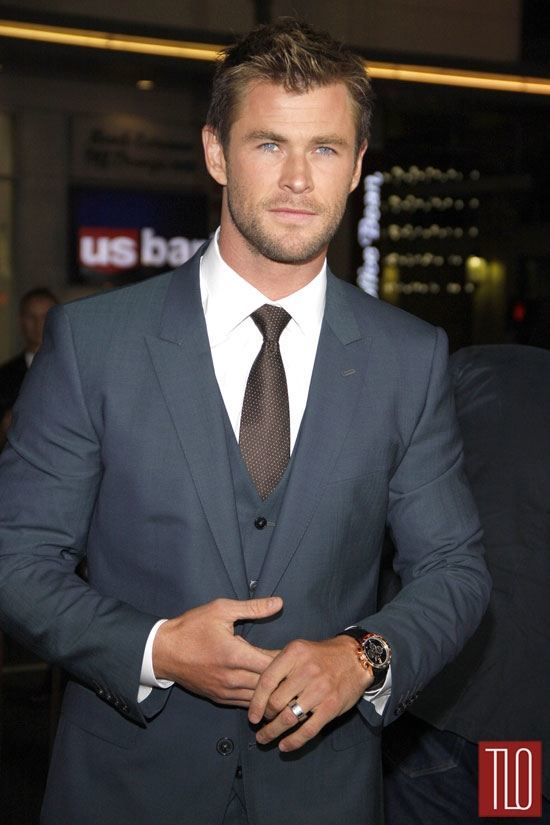 Chris Hemsworth In DolceampGabbana At The Blackhat