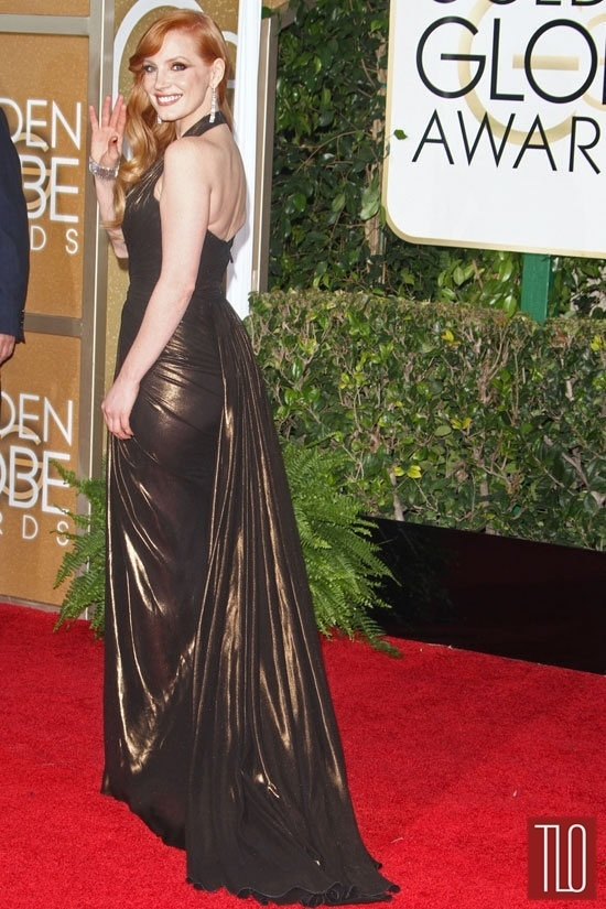 Golden Globes 2015 WERQ Jessica Chastain In Atelier