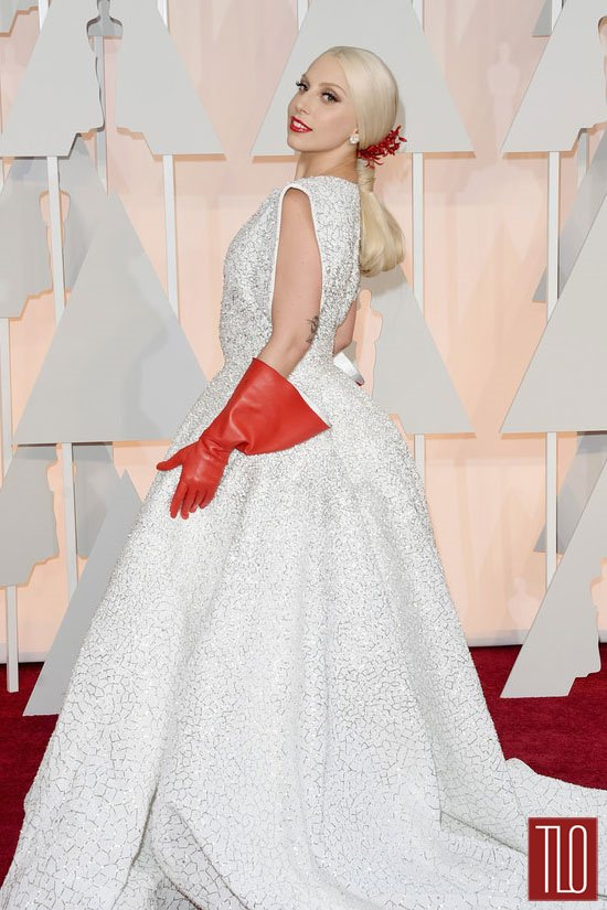Lady Gaga in Azzedine Alaïa at the Oscars Tom Lorenzo
