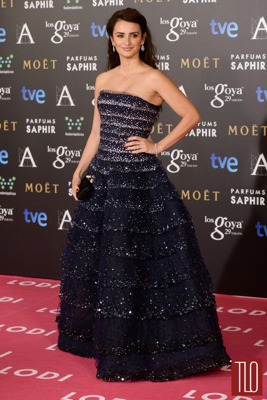 Penelope Cruz In Oscar De La Renta At The 2015 Goya Awards