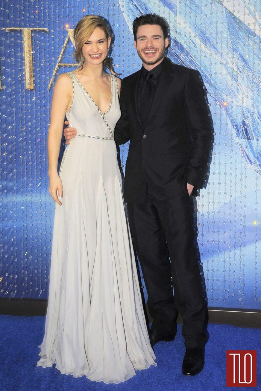 """Lily James and Richard Madden at the """"Cinderella"""" Mexico ..."""