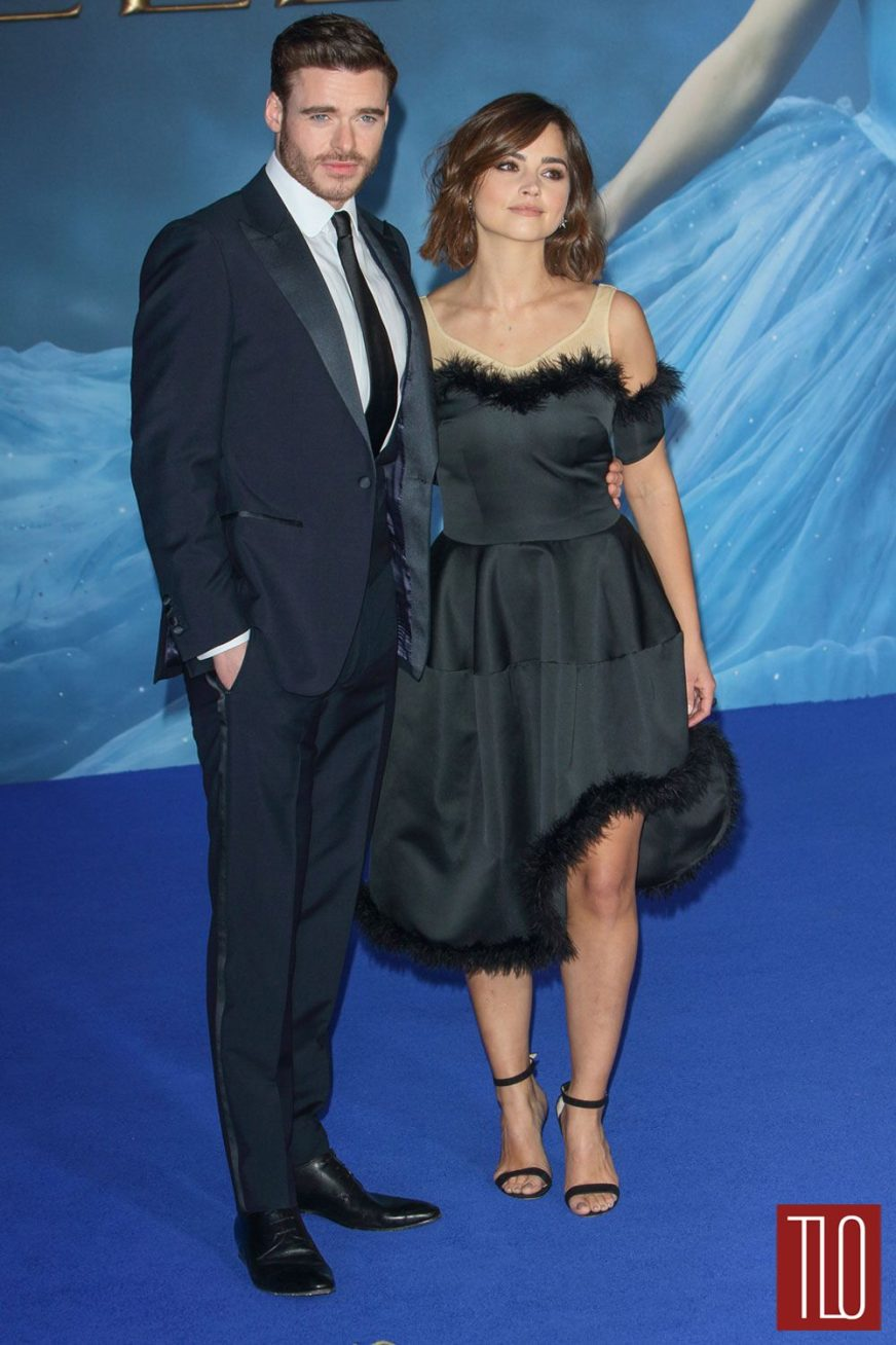 "Richard Madden and Jenna Coleman at the ""Cinderella"" UK ..."