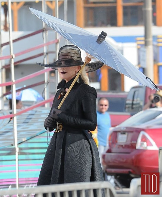 Lady Gaga On The Set Of Quot American Horror Story Hotel