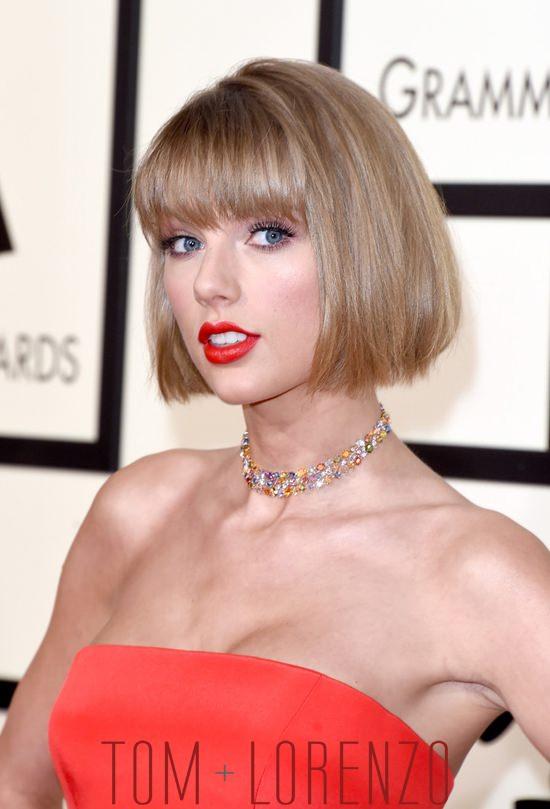 Grammys 2016 Taylor Swift In Atelier Versace Tom Lorenzo