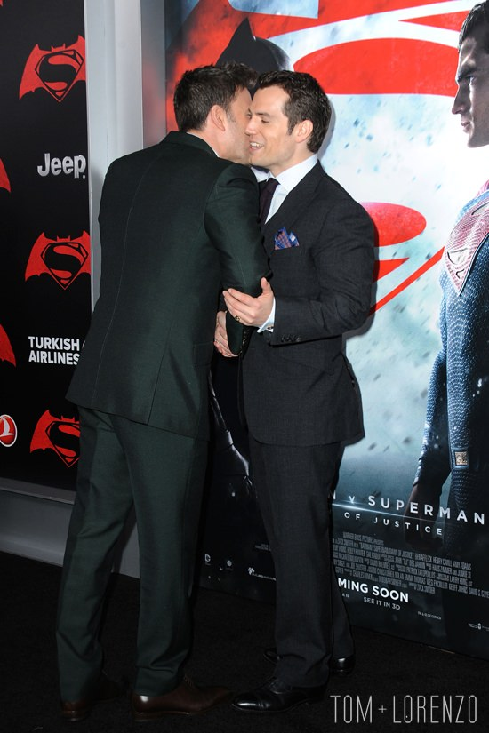 Ben Affleck and Henry Cavill at the Batman v Superman