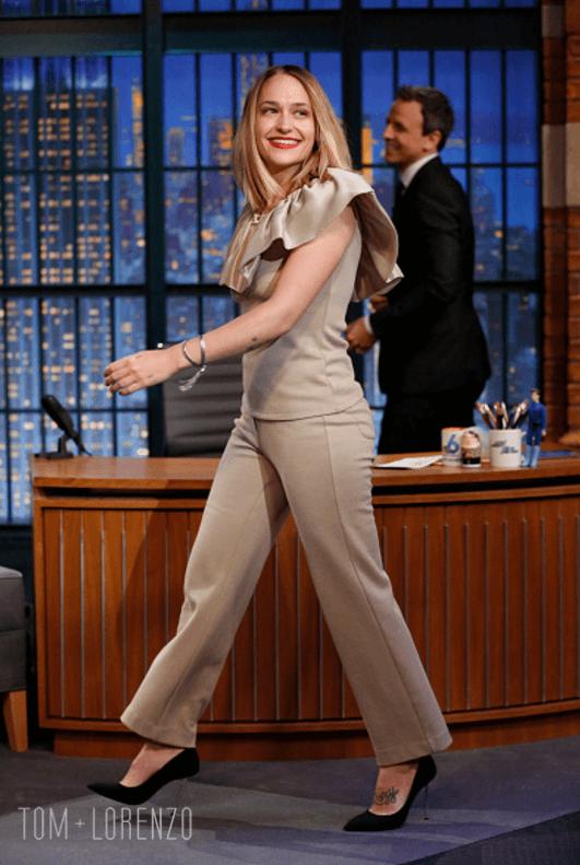 Jemima Kirke On The Late Night With Seth Meyers Show