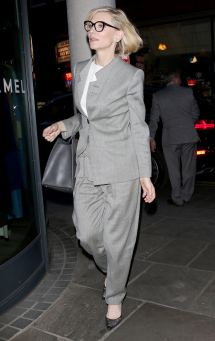 Cate Blanchett Spotted Dining In Armani London Tom