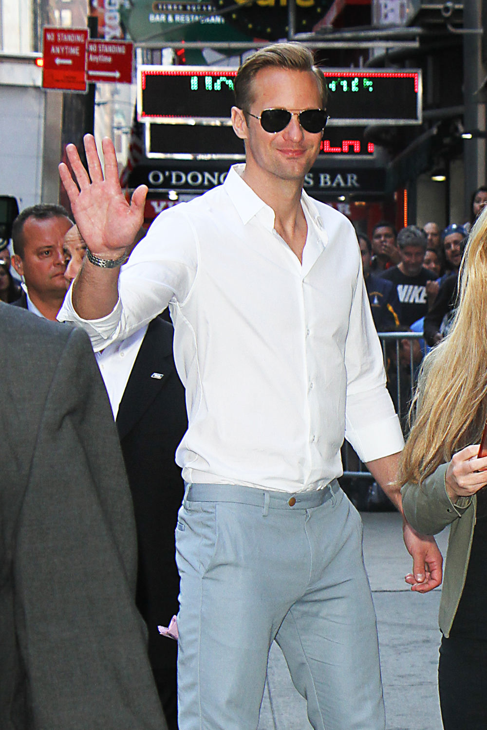 Alexander Skarsgrd on Good Morning America  Tom  Lorenzo