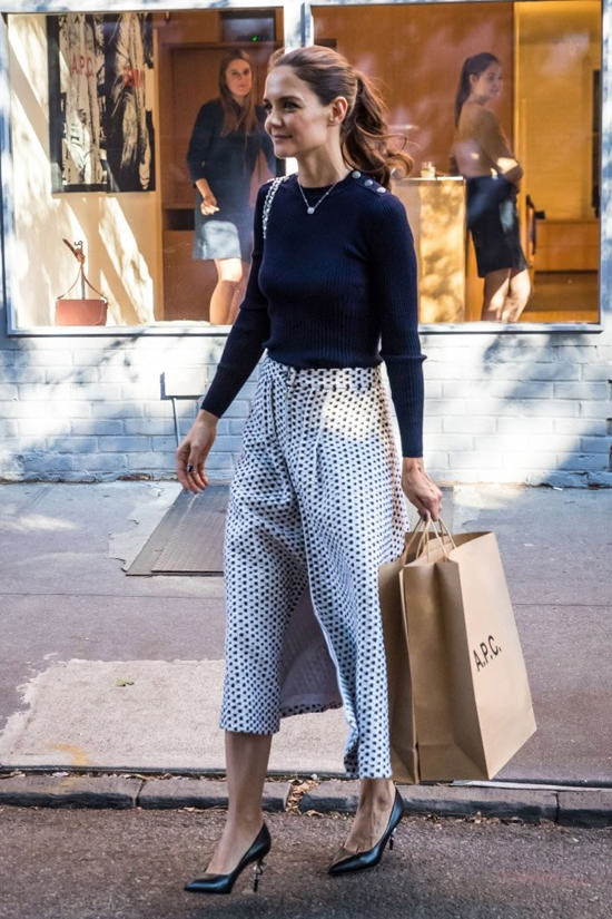 Katie Holmes goes shopping in Chanel as one does  Tom
