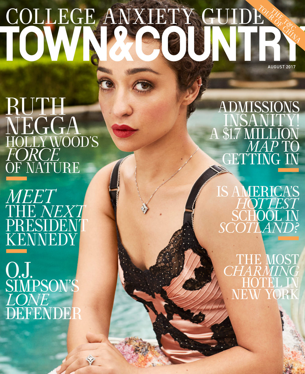 Ruth Negga Covers The August 2017 Issue Of Town & Country