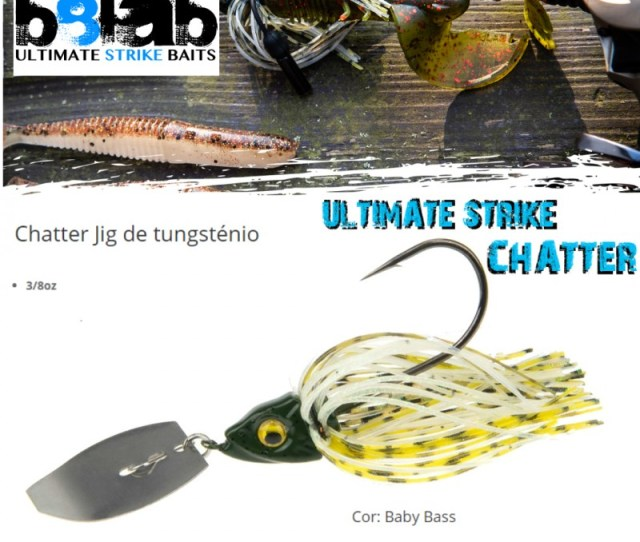 New Amostra Chaterbait B8lab Ultimate Strike Chater