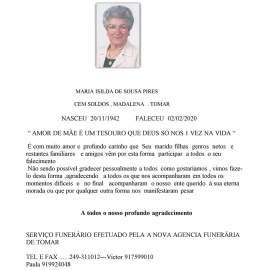 MARIA ISILDA DE SOUSA PIRES