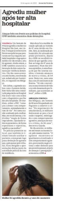 Recorte do Jornal de Notícias (13/08/2020)