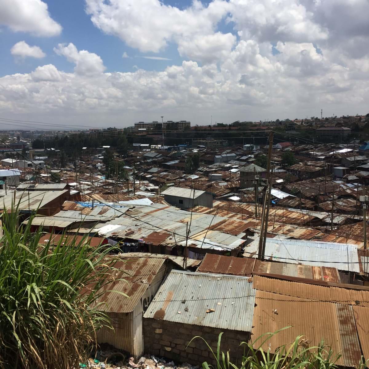 Slummen i Kibera och Oloo School