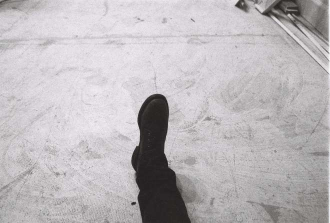 Lone dark foot