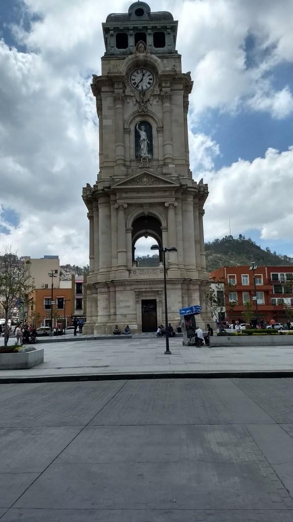 Image of clock tower in Pachuca, Hidalgo
