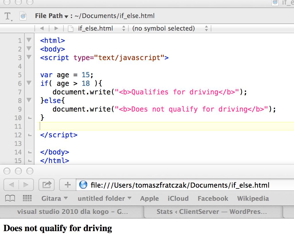 Javascript If Statement