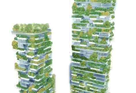 el primer bosque vertical de Asia para reducir la contaminación