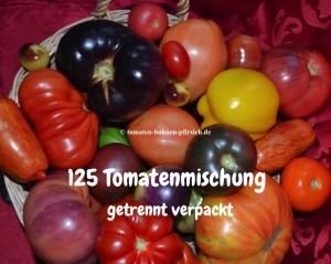 125 Tomatensamen von 25 verschiedene Sorten getrennt verpackt