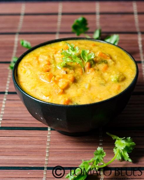 carrot peas kurma