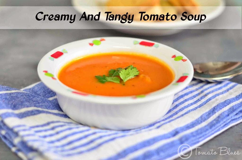 Creamy Tomato Soup Recipe| Easy Soup Recipes Cream Of Tomato Soup With Garnish