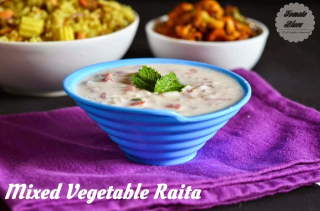 Mixed Vegetable Raita Recipe| Dips Spreads and Sauces ...