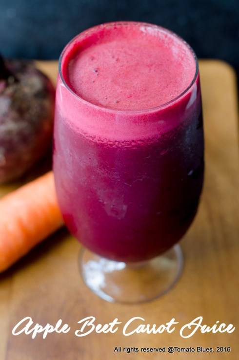 ABC juice or apple beetroot carrot juice