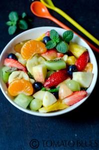 Rainbow Fruit Salad For Navratri