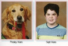 This Cute Service Dog Gets Featured In School's Yearbook, Read To Know Why Tomatoheart.com 1