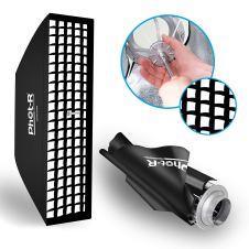 Quick-folding Phot-R Strip Softbox 30x120cm z gridom