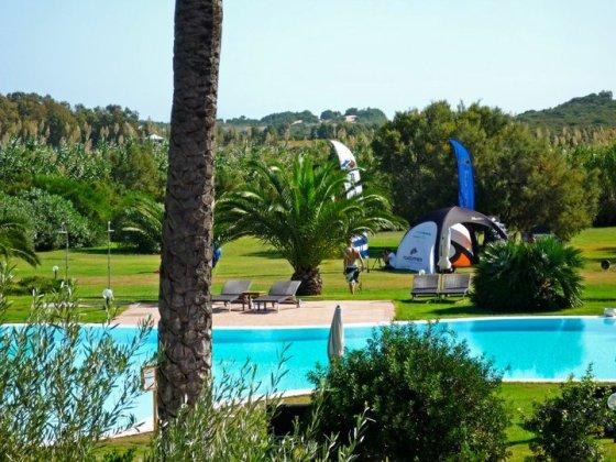 The pool at the Aquadulci Hotel