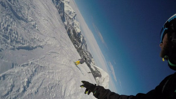 snowboarding on top of the world